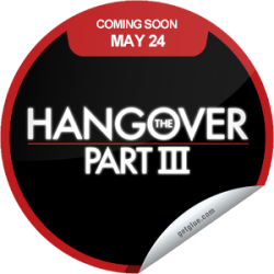 I just unlocked the The Hangover Part III Coming Soon sticker on GetGlue                      15132 others have also unlocked the The Hangover Part III Coming Soon sticker on GetGlue.com                  This summer, it all ends. The epic conclusion to the trilogy of mayhem and bad decisions. The Hangover Part III opens in theaters everywhere on 5/24.  Share this one proudly. It's from our friends at Warner Bros.