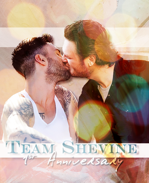 deedo2313:   Team Shevine 1st Anniversary ♥  I had to rush a bit, but it's still the 10th somewhere :D Happy Birthday, Team Shevine! ♥