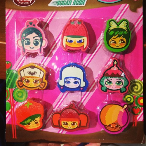 Wreck it Ralph Sugar Rush scented erasers, so cute! #sugarrush #wreckitralph #disney