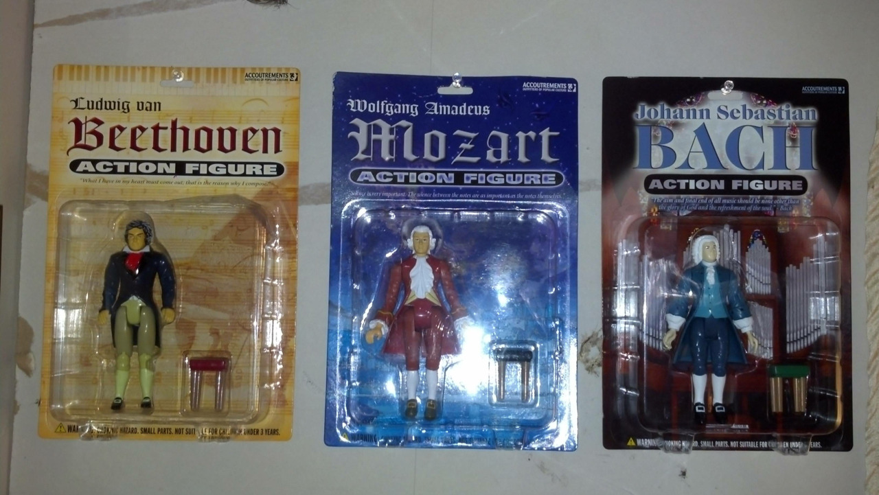 OMG there's a whole series of classical music action figures! Mozart Vs. Spiderman anyone? [Via]