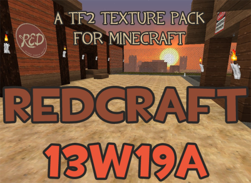 RED Craft Texture Pack 13w19a This texture pack is 32x32 HD and requires an HD Patcher for proper use. Download the Texture Pack here. Download the HD Patcher here.  Change Log New textures: Nether wart seedsItem frame backHay block side and topCharcoalDetector railCoal blockRedstone blockQuartz block lined and chiseled  GUI changes: Hunger bar now sandwichesXP bar updatedBoss health bar updatedCreative menu scroll bar fix  Particles: Fishing hook, bubbles, and music note textures re-added