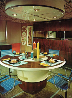 midcenturymodernfreak:  1965 Dining in the Future - Via