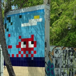 Another space invader. #miami #streetart