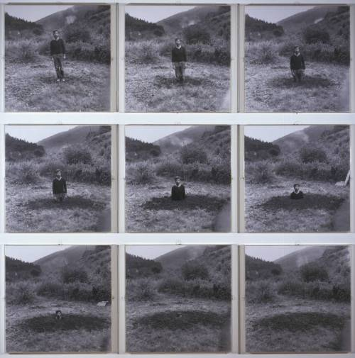 losed:  Keith Arnatt - Self-Burial (Television Interference Project) 1969