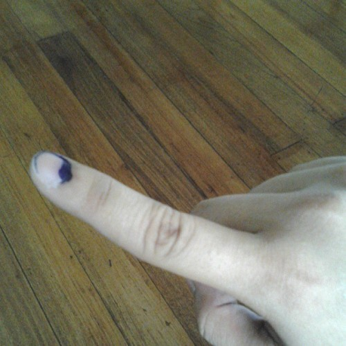 Exercised my right to vote. #halalan2013 #phvote #Philippines