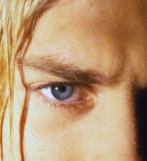 "nirvananews:  Fan request: ""Closeup view of Kurt Cobain's eye."""