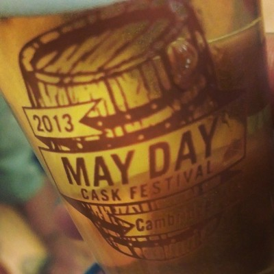 At the May Day Cask Festival #craftbeer