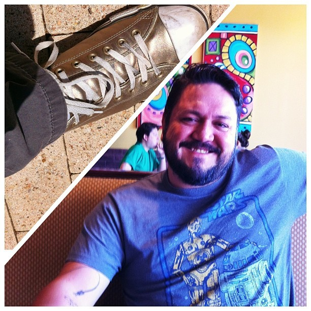 C-3PO Chucks and Star Wars tee… May The Fourth Be With You!