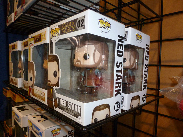 POP Ned Stark on Flickr.Via Flickr: Pop Funko figurines from A Game of Thrones. And no, the head doesn't come off. Not unless you really work at it, I imagine.