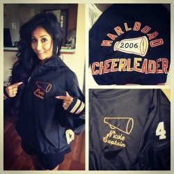 cheerleader-till-the-day-i-die:  indiedolldiary:  Snooki in her old cheerleading jacket: )  the fact that snooki was a cheerleader is so awesome :D