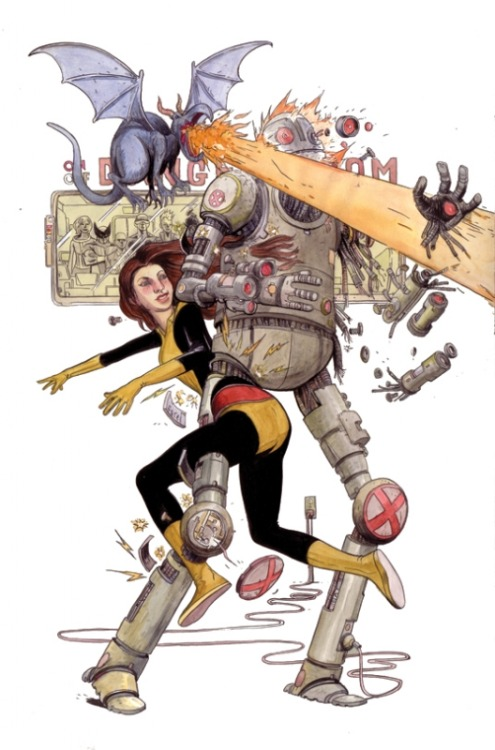 Kitty Pryde in the Danger Room by Farel Dalrymple.
