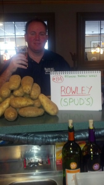 "#84/Rowley  Spuds  Always funny to me when i walk into a place and someone says ""its the beer guy""! Took a bunch of photos with the women here. Thanks to those who donated. Rowley is one of those obscure towns that I've never been in. Wish I had time to try the wings!  Next: Ipswich"