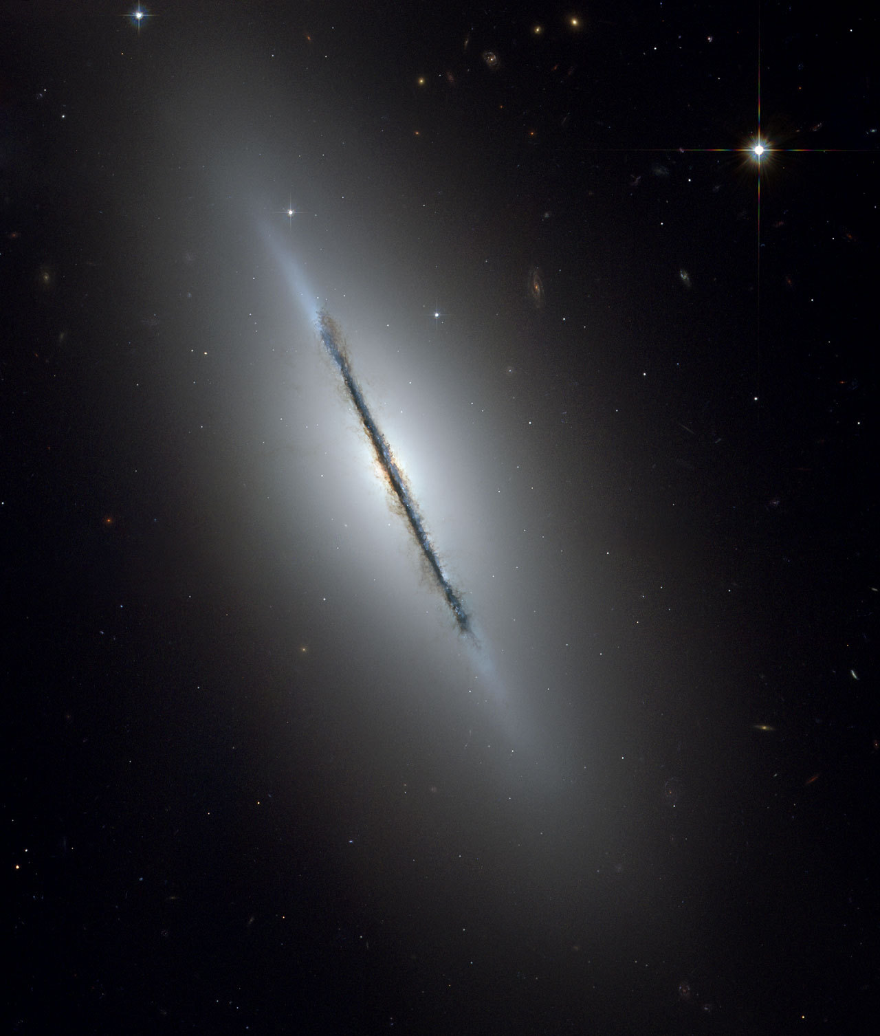 NGC 5866 Credit: NASA, ESA, and The Hubble Heritage Team STScI/AURA)
