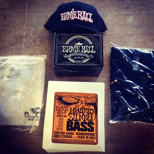 Thanks to our new pals at Ernie Ball for the hook up! Guess we're bona fide now…