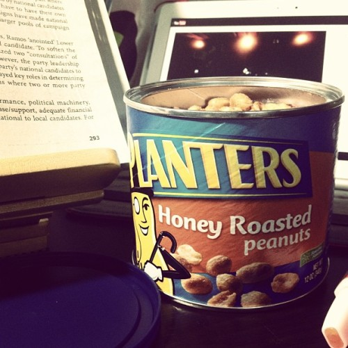 Sheer happiness in a can of peanuts. #finals