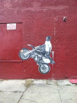 12 O'Clock Boy wheat paste in East Baltimore.