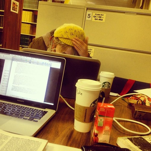 Finals week = late night study seshhh + Starbucks + @randylynn22  (at Regent University Library)