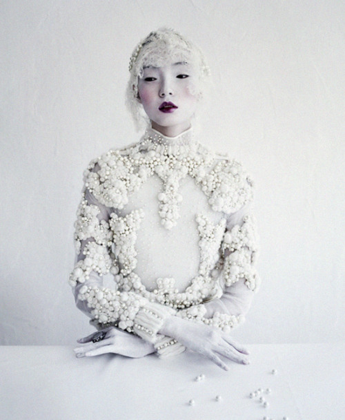 deprincessed:  Xiao Wen Ju wears Givenchy Couture F/W 2011 in 'Magical Thinking' shot by Tim Walker for W March 2012