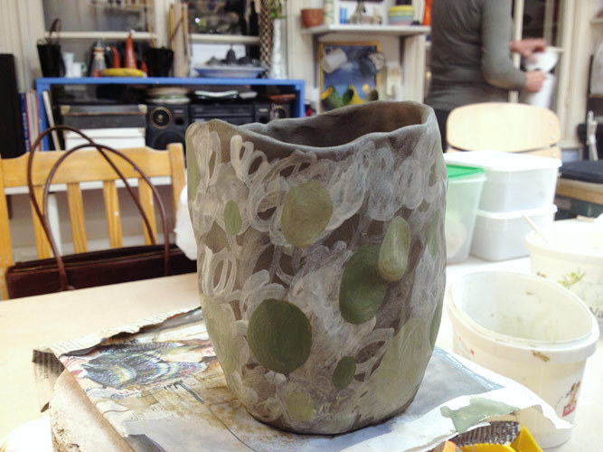 Vase in the making