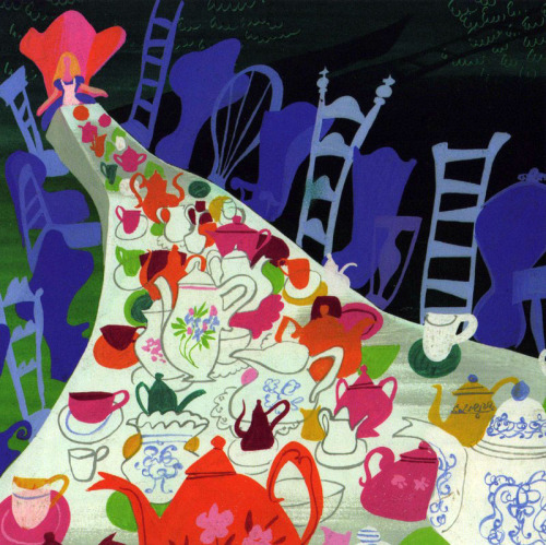 plumbol:  Mary Blair Alice in Wonderland concept art
