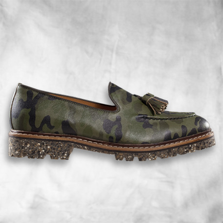 The Klaxon - Camo Tassel Loafer (Vibram E-Co Step Sole)