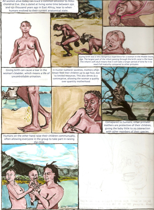 This is a comic about the stone age I'm still working on. I scanned in a preliminary  for my mom on Mothers Day