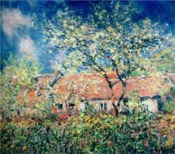 Springtime at Giverny, 1886, Claude Monet.