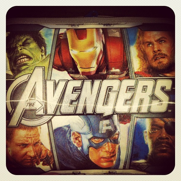 #avengers best lunch box ever…#ironman #thor #cptamerica #nickfury #hawkeye #hulk