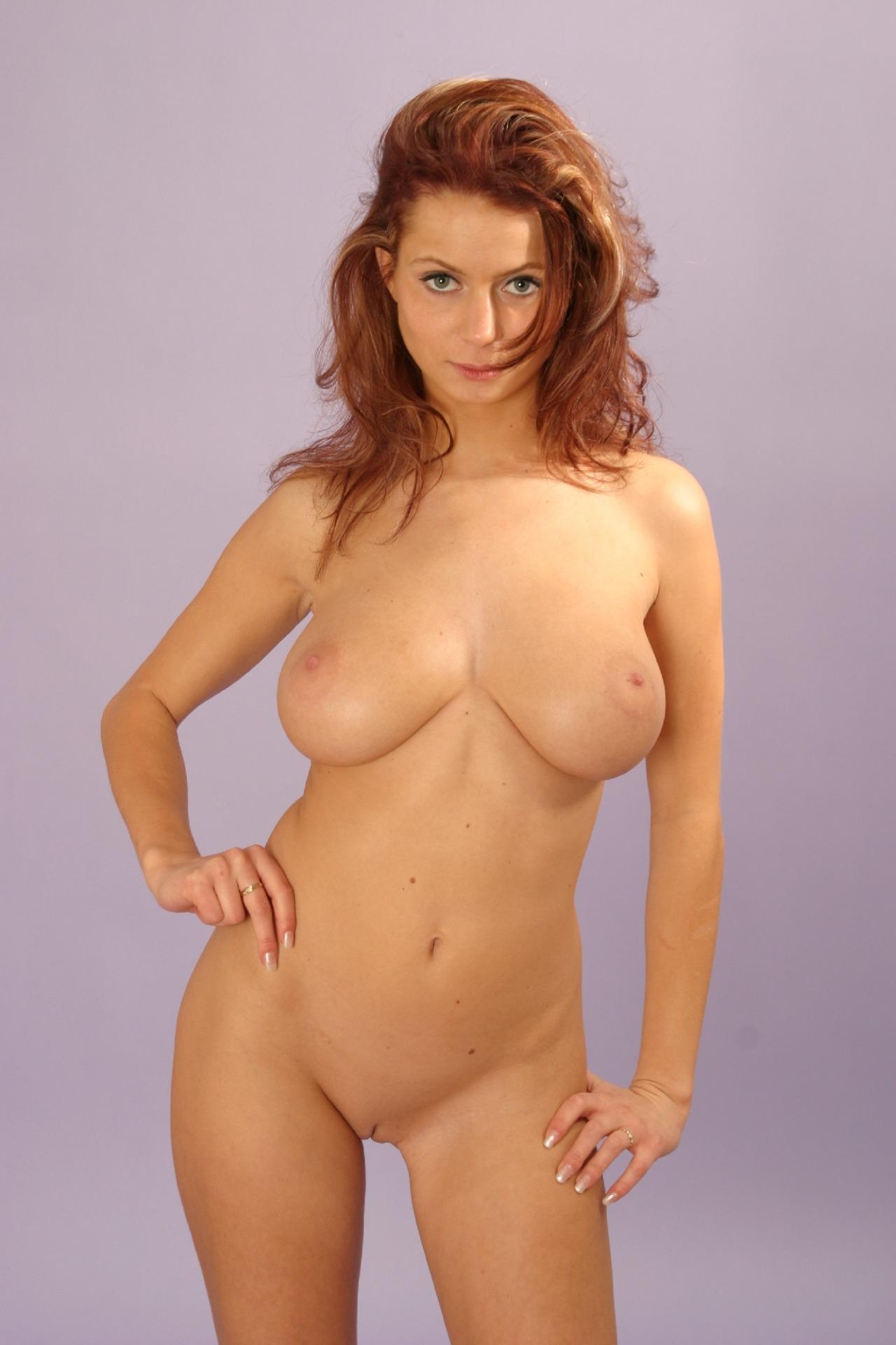 Busty natural redhead big tits