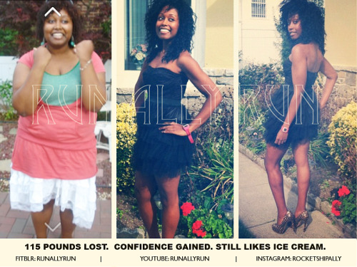 "beforeandafterfatlosspics:  runallyrun I'm 5'6"", loving life. Running my first half marathon in 3 days. Never have I dreamed of a life so grand until now. :-)"