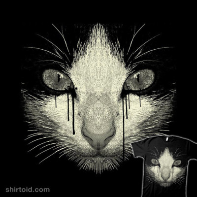 shirtoid:  Inked Cat by Moncheng is available at Design By Humans
