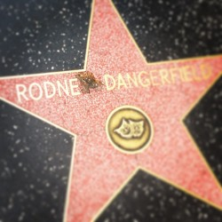 His star is cracked?!  Wow.  No respect. #rodneydangerfield #norespect #outrage #backtoschool #triplelindy #thorntonmelon #legend #comedian (at iO West Theater)