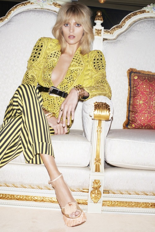 labellefabuleuse:  Anja Rubik in Balmain, Spring 2013 photographed by Katja Rahlwes for Vogue Japan, June 2013