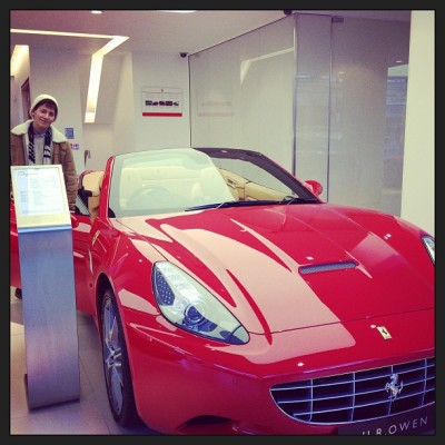 Big bro picking out his first car :,( … bring tears to my eyes #ferrari #firstcar #classic by schac