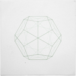 geometrydaily:  #354 Dodecahedron – Hmm. Platonic solids. So great. – A new minimal geometric composition each day