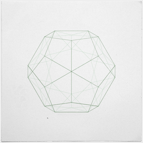 #354 Dodecahedron – Hmm. Platonic solids. So great. – A new minimal geometric composition each day