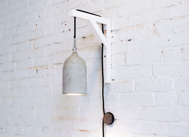 You won't believe what was used to create this concrete pendant lamp. Any guesses? Answer here.