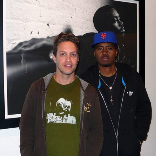Me & Nas at my True Hip-Hop show in Miami, 2010.    If you want the book, you can get a signed copy at www.dogboyland.com