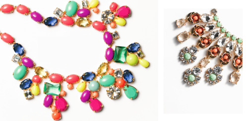 Jcrew color mix statement necklace 2013