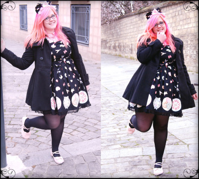 Cherry Blossoms (by Maelle P.)  Simple outfit to go for a walk with my boyfriend