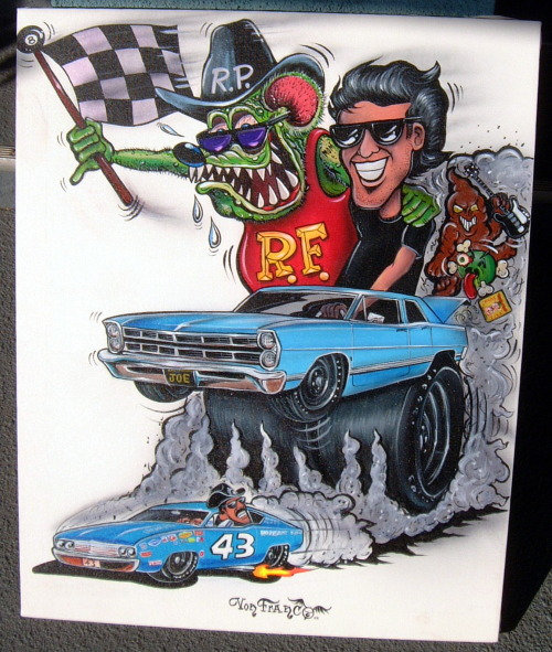 vonfink13:  rat fink and me chasin down the king…by my pal von franco