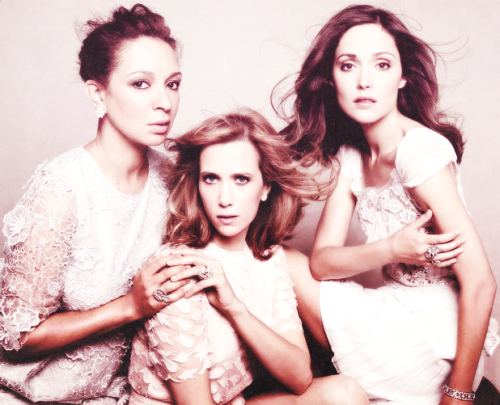 Kristen Wiig and Rose Byrne with Maya Rudolph for Vanity Fair (x)