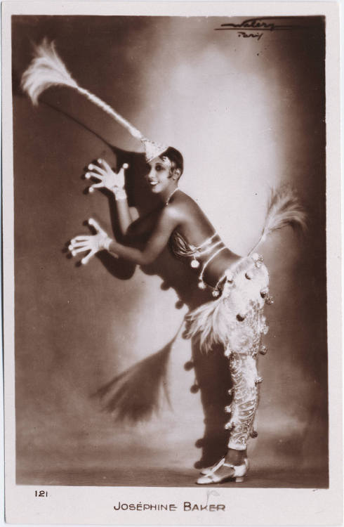 The Last Unicorn: Josephine Baker |1929 Another publicity photo for the Folies Bergere featuring Josephine Baker in a stylized unicorn costume, 1930s.