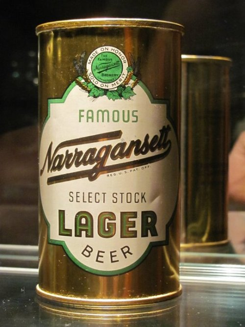 Narragansett Lager Select Stock can from the 1940's.