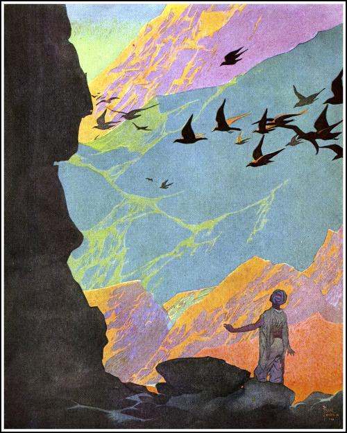 "saveflowers1:  Art by Frank Godwin (1921) from the BLUE FAIRY BOOK, ""Oh dear me."""