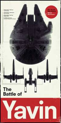 tiefighters:  The Battle of Yavin Poster Created by Vesa Lehtimäki Facebook || Flickr || Twitter