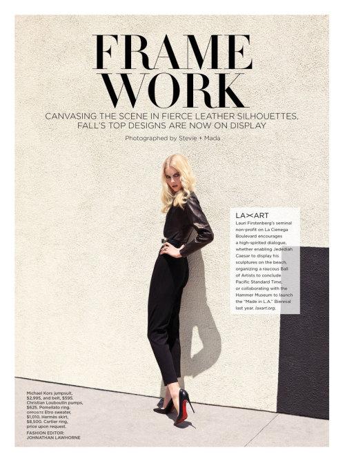 "starworksartists:  ""Frame Work"" C Magazine - October 2013 Photographer - Stevie and Mada Makeup - Kate Lee / Starworks Artists"