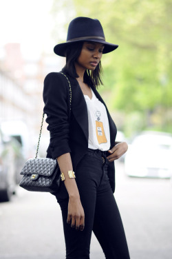 the-streetstyle:  It Looks Like Hat Seasonvia bisousnatasha