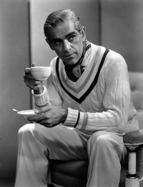 Boris Karloff, fashion plate