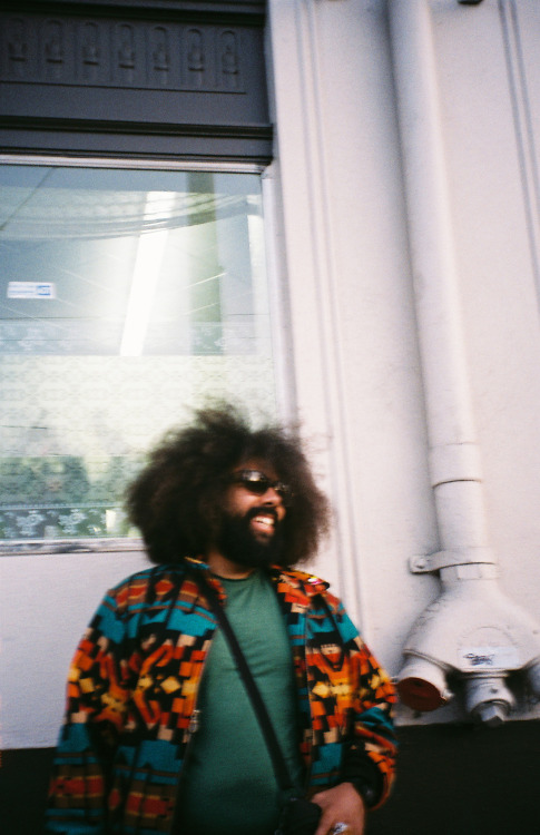 My man Reggie Watts in the Mission District.